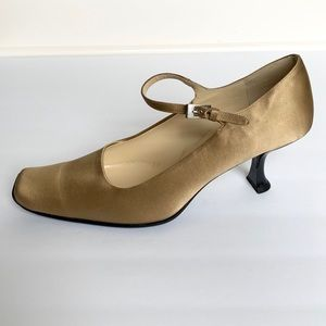 PRADA Gold Silk Heels